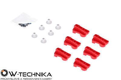 Red Rotatable Clamp Kit pro dron DJI MATRICE 600 - 2