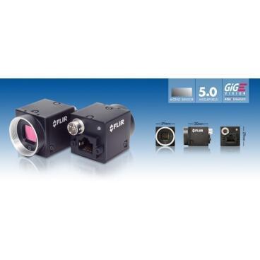 Průmyslová kamera Flir-PointGrey Blackfly 5,0 MP Color/Mono GigE PoE - 3