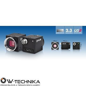 Průmyslová kamera Flir-PointGrey Blackfly 2.3 MP Color/Mono USB3 Vision - 3