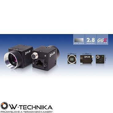 Průmyslová kamera Flir-PointGrey Flea3 2.8 MP Color/Mono GigE Vision - 3