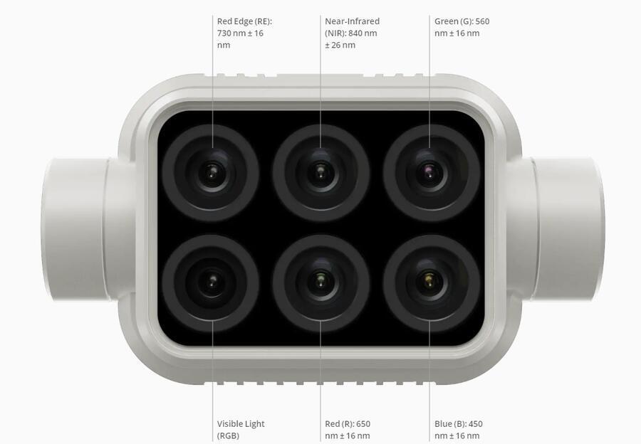 multispektralni kamera na dji phantom 4 multispectral p4 multispectral